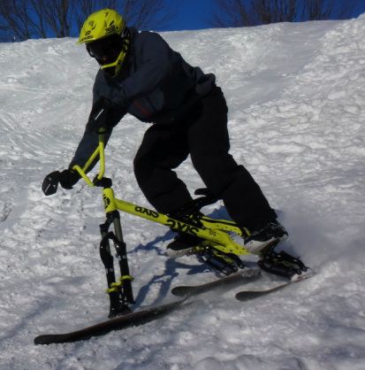 The Snow Cycle is the tricycle of skis | The Red Ferret Journal
